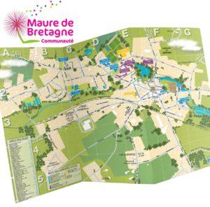 Création du plan plié de la ville de Maure-de-Bretagne
