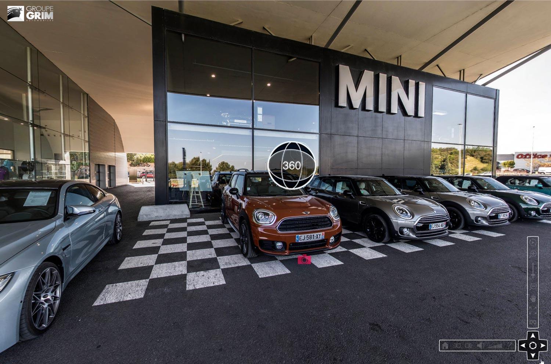 Visite virtuelle à 360° de la concession automobile - Groupe Grim - Montpellier