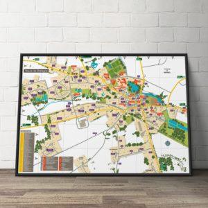 Création du plan de la ville du Val d'Anast