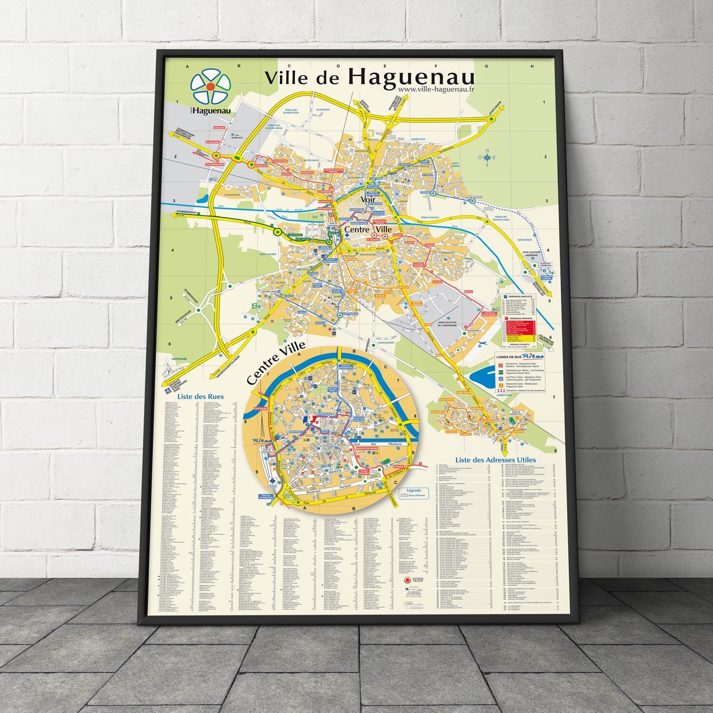 Création du plan de la ville d'Aguenau