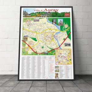 Création du plan de la ville d'Auray