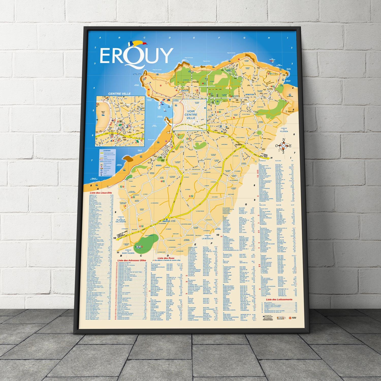 Création du plan de la ville d'Erquy