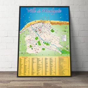 Création du Plan de la ville d'Houlgate