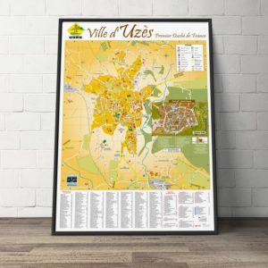 Création du plan de la ville d'Uzès