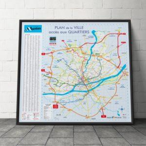 Création du plan de la ville de Nantes