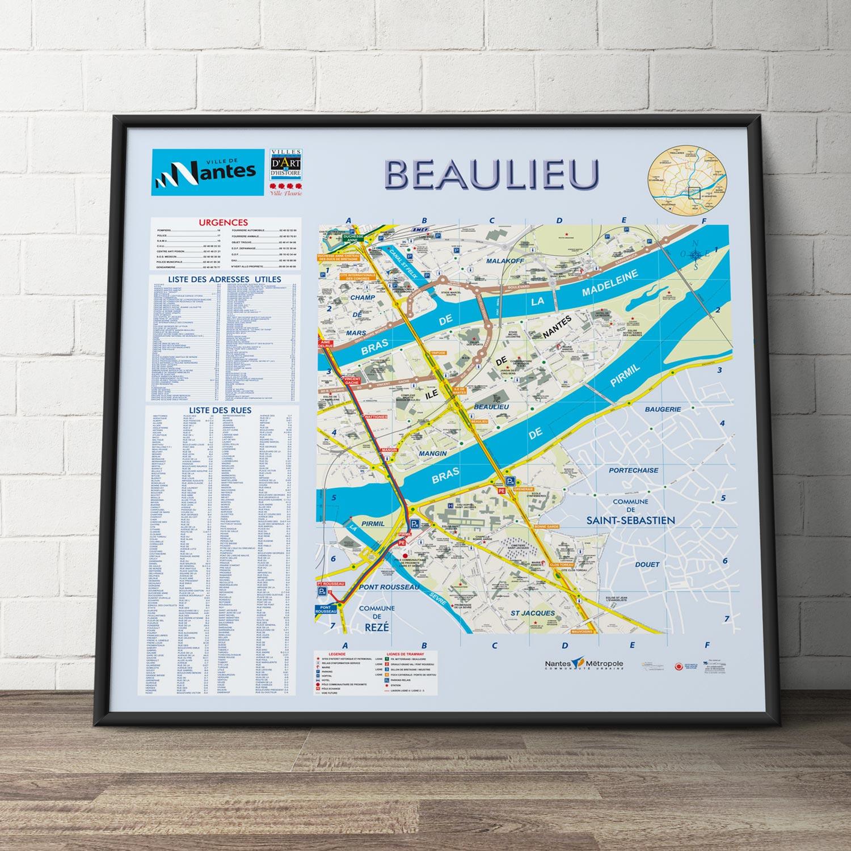 Création du plan de la ville de Nantes - Beaulieu