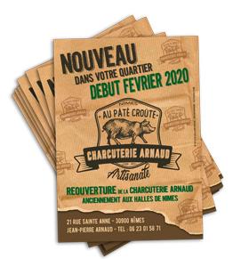 Flyer Charcuterie Arnaud