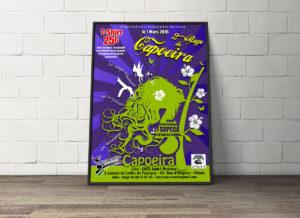 Création graphique d'une affiche Stage de Capoeira Le Barracao Nîmes