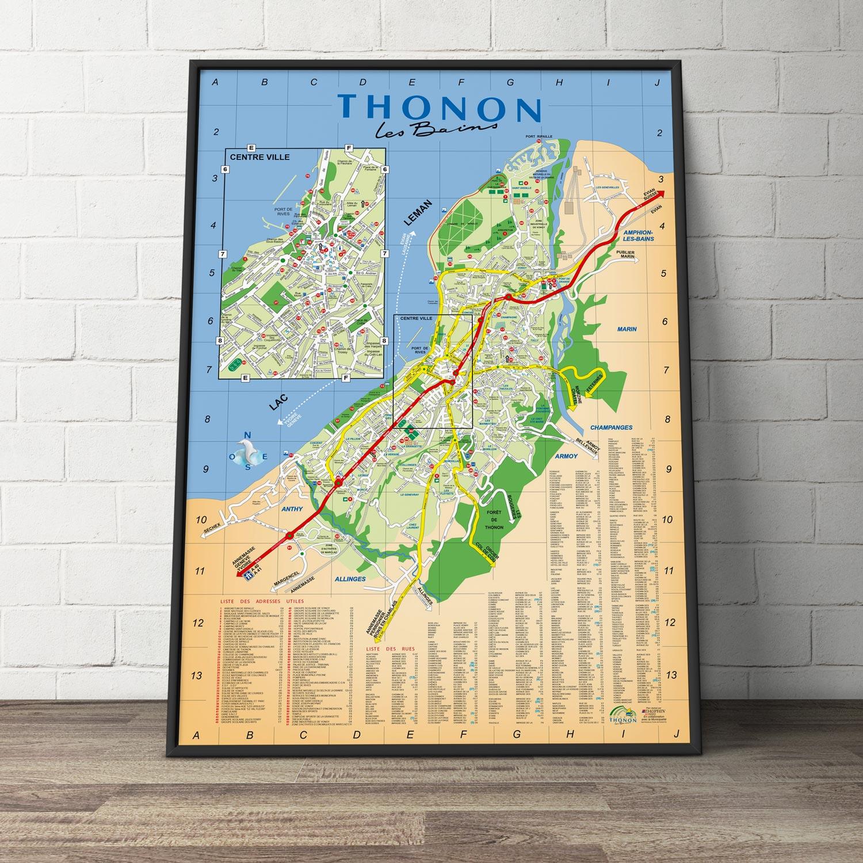 Création du plan de la ville de Thonon les Bains