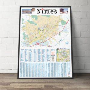 Création du plan de la ville de Nîmes